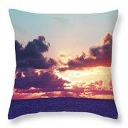 Sunset Behind Clouds Throw Pillow