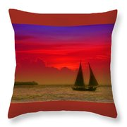 Sunset Behind The Clouds Throw Pillow