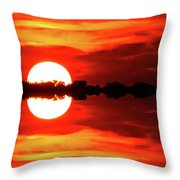 Sunset Behind The Trees At Kempenfelt Bay Two  Throw Pillow