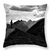 Sunset Black And White Throw Pillow