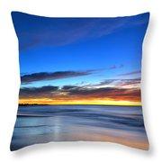 Sunset Blue Throw Pillow