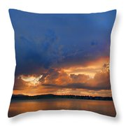 Sunset Blues Throw Pillow