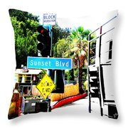 Sunset Blvd Throw Pillow