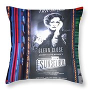 Sunset Boulevard On Broadway Throw Pillow
