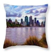 Sunset Brisbane Throw Pillow