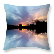 Sunset Brushstrokes Throw Pillow