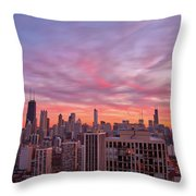 Sunset Burn Throw Pillow
