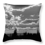 Sunset Bw Throw Pillow