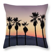Sunset By La Throw Pillow
