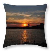 Sunset By The Inlet Throw Pillow
