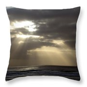 Sunset By The Sea Photograph Throw Pillow