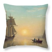 Sunset Calm In The Bay Of Fundy Throw Pillow by William Bradford