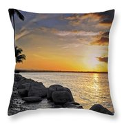 Sunset Caribe Throw Pillow