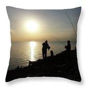 Sunset Catch, Nanticoke, Maryland Throw Pillow