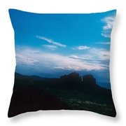 Sunset Cathedral Rock Sedona Arizona Throw Pillow