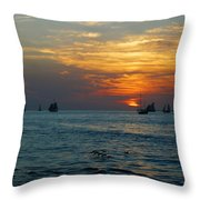 Sunset Celebration Key West Fl Throw Pillow