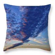 Sunset Cloud Formation Throw Pillow