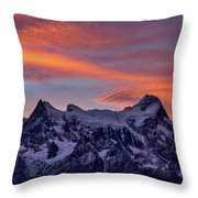 Sunset Clouds At Cerro Paine Grande #3 - Chile Throw Pillow
