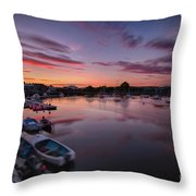 Sunset Clouds In The Sea Throw Pillow