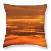 Sunset Clouds On Fire Throw Pillow