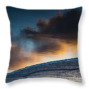 Sunset Clouds Reflect Throw Pillow