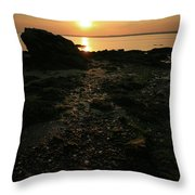 Sunset Coast Throw Pillow