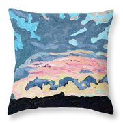Sunset Cold Front Throw Pillow