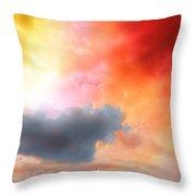 Sunset Colors Throw Pillow