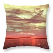 Sunset Colors On The Bay Throw Pillow