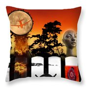 Sunset Composite Throw Pillow