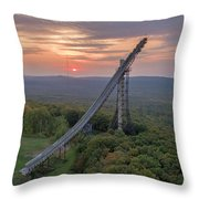 Sunset Copper Peak Throw Pillow