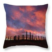 Sunset Corral Throw Pillow