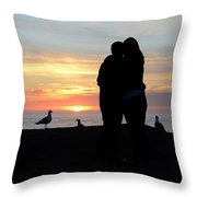 Sunset Couple Throw Pillow
