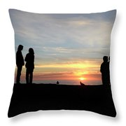 Sunset Couples Throw Pillow