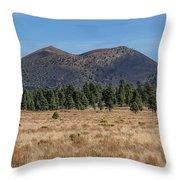 Sunset Crater Throw Pillow