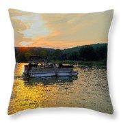 Sunset Cruising Throw Pillow