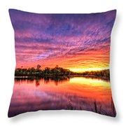 Sunset Culpeper Va Throw Pillow