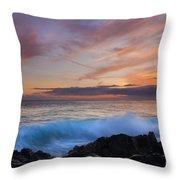 Sunset Curl Throw Pillow