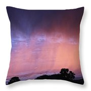Sunset Curtain Throw Pillow