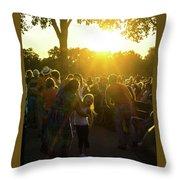 Sunset Dancing Throw Pillow