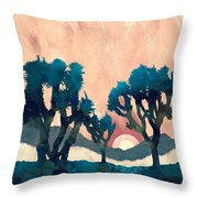 Sunset Desert Canyon Throw Pillow