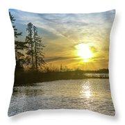 Sunset Dollarville Flooding Newberry Michigan -0243 Throw Pillow