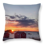 Sunset Down East Maine  Throw Pillow