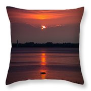 Sunset Ducks Throw Pillow