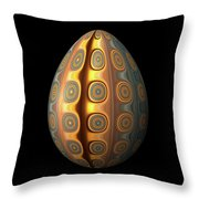 Sunset Egg With Concentric Circles Throw Pillow