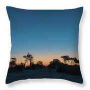 Sunset - Elephant Sands Botswana Throw Pillow