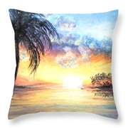 Sunset Exotics Throw Pillow