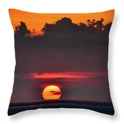 Sunset Face Throw Pillow