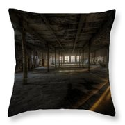 Sunset Factory Throw Pillow