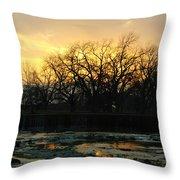 Sunset Falls Throw Pillow